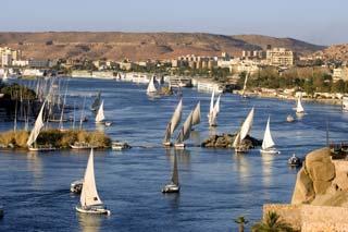 Assouan, vue sur le Nil
