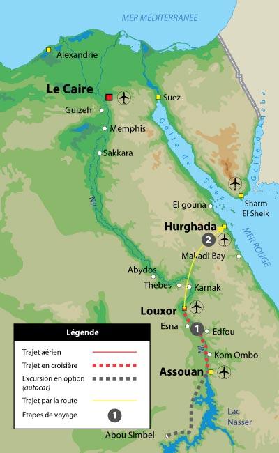 Croisière sur le Nil et Farniente sur les rives de la mer Rouge