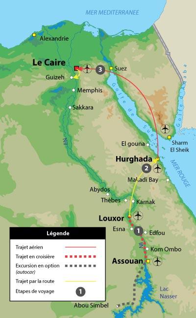 Hathor les circuit en Egypte de 11 jours : Hurghada, Le Caire et le Nil