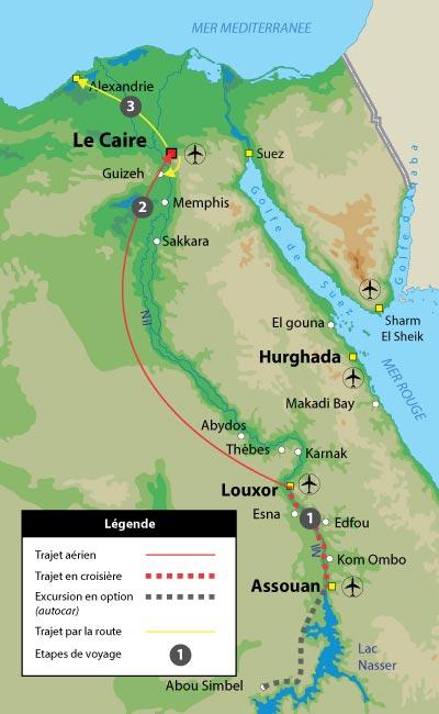 La croisière avec le Caire et Alexandrie